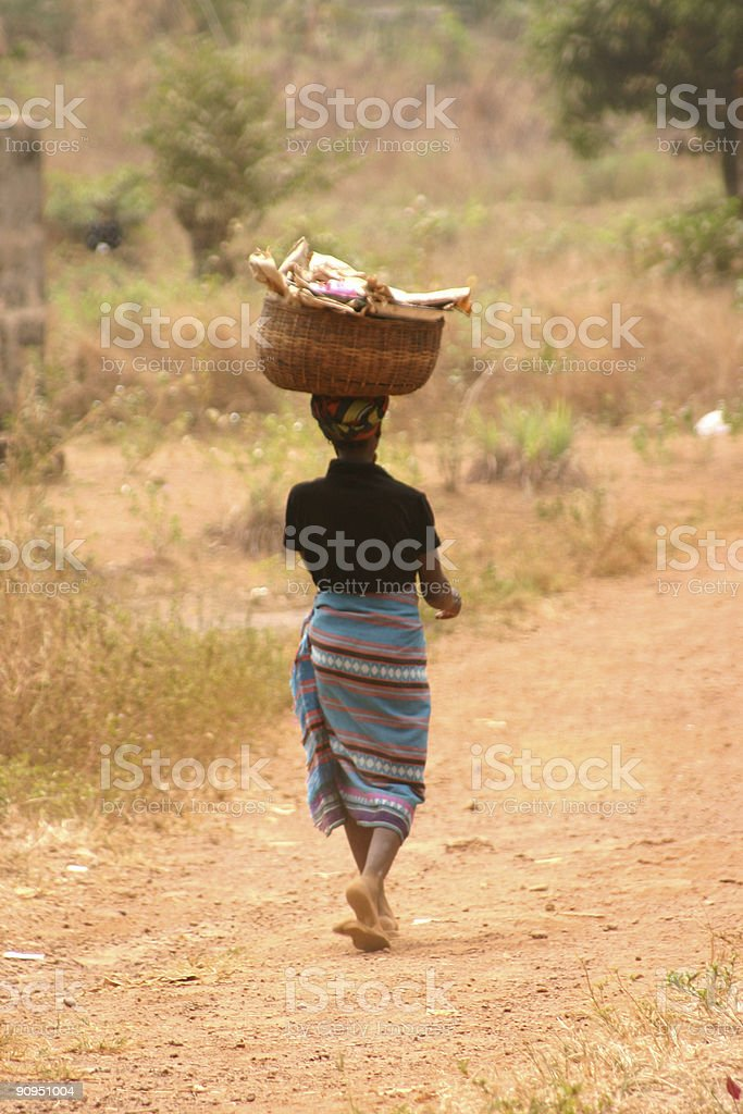 African Woman stock photo