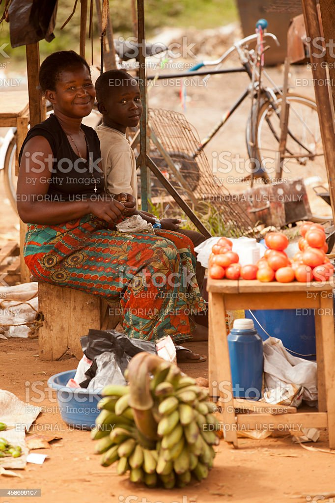 African Women are sitting: Very nice smiling stock photo