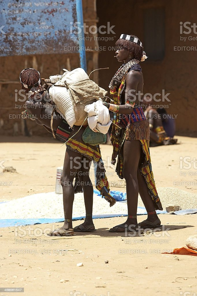 African women at the market royalty-free stock photo