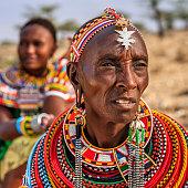 African women from Samburu tribe, Kenya, Africa