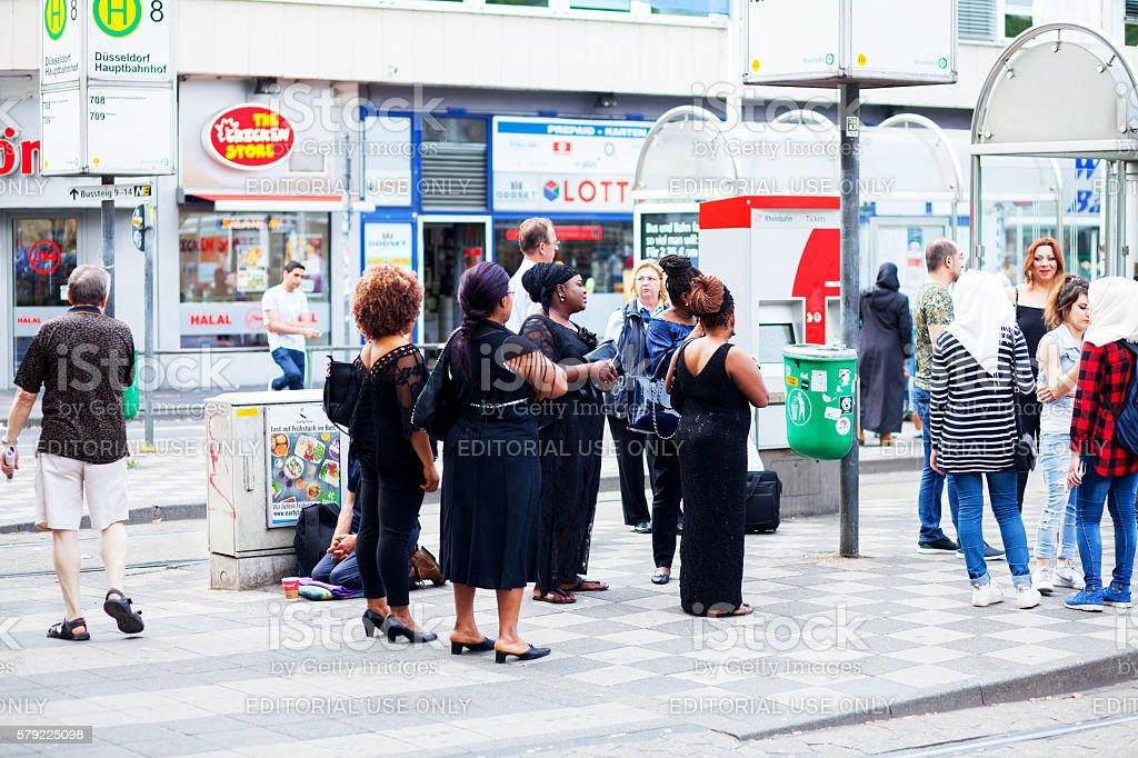 African women in black fashion stock photo