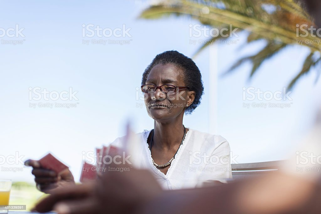 African women making her next move royalty-free stock photo
