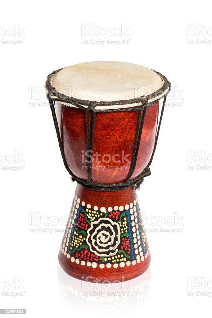 African wooden drum stock photo