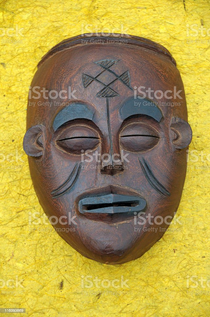 African wooden mask royalty-free stock photo