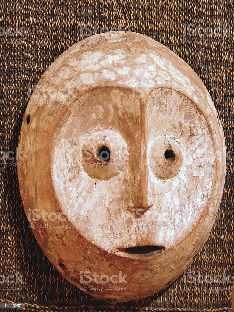 african zulu mask royalty-free stock photo