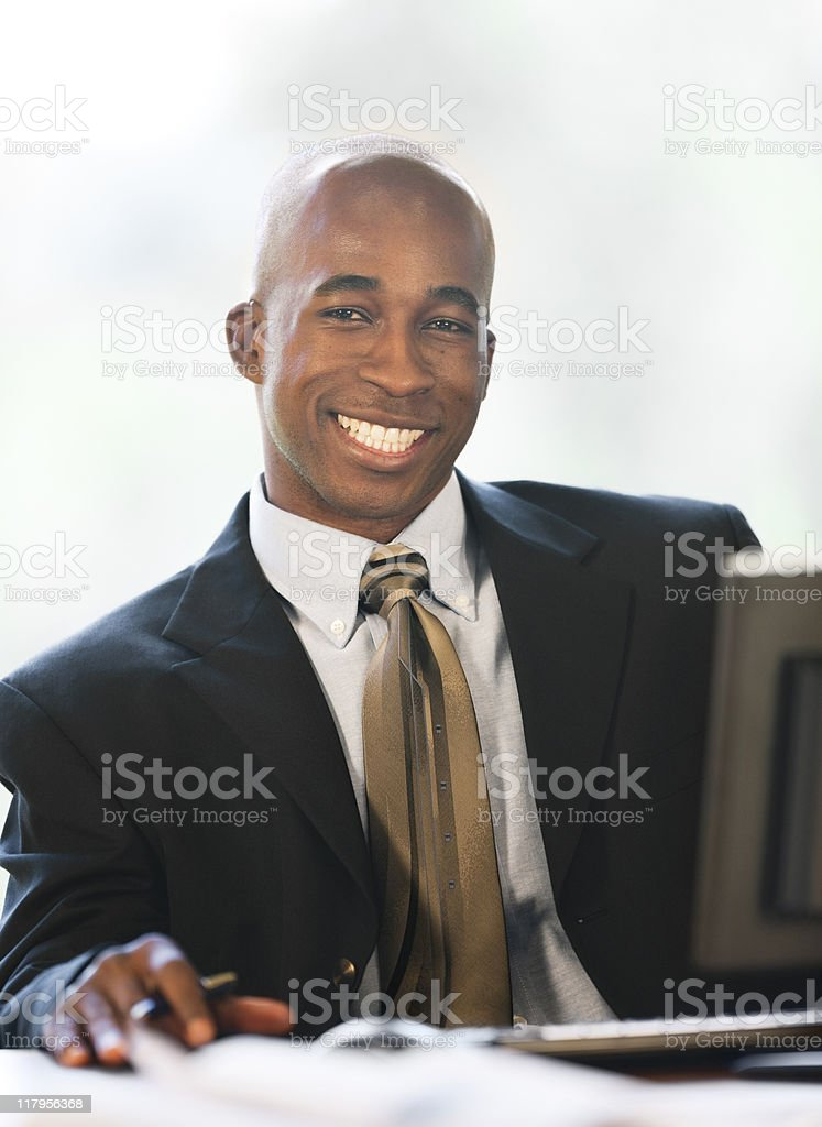 African-American Businessman With A Big Smile royalty-free stock photo