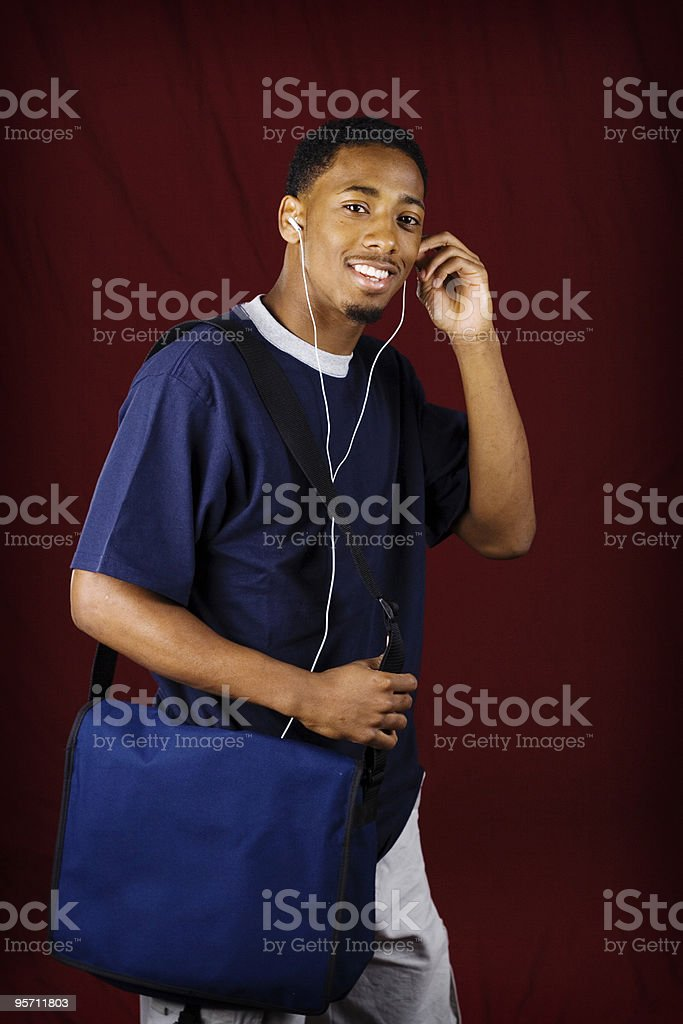 African-American College Student royalty-free stock photo