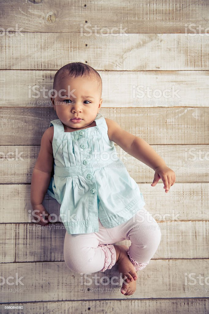Afro American baby girl royalty-free stock photo