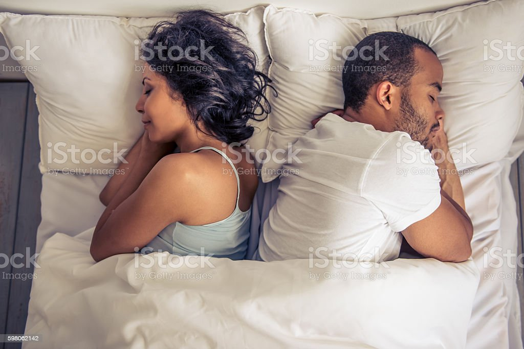 Afro American couple stock photo