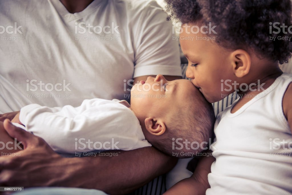 Afro American family royalty-free stock photo