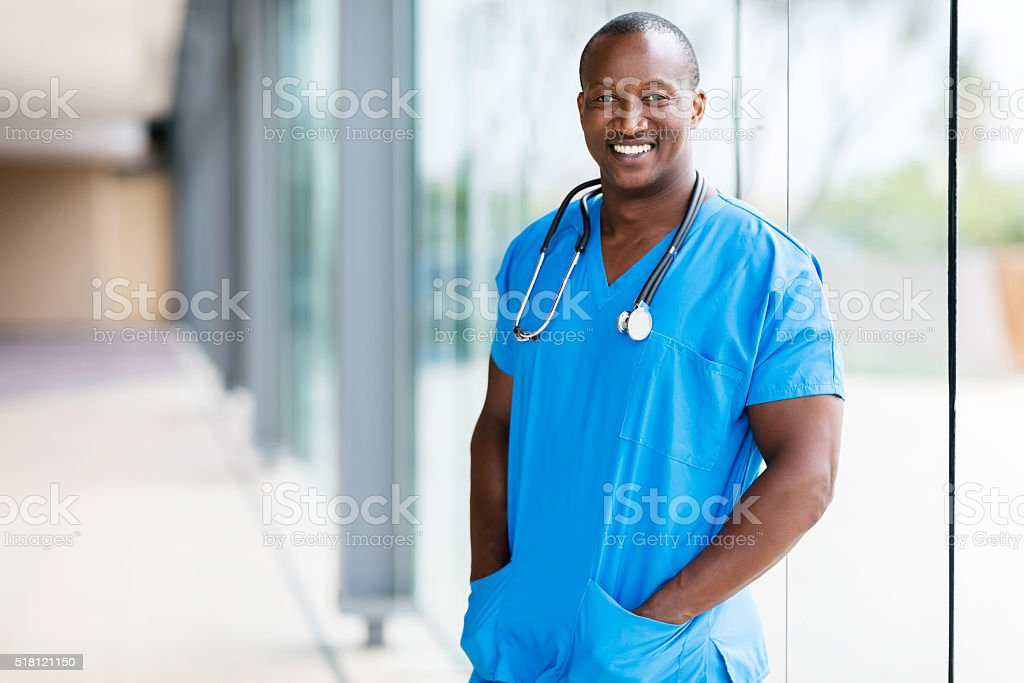 afro american medical doctor stock photo