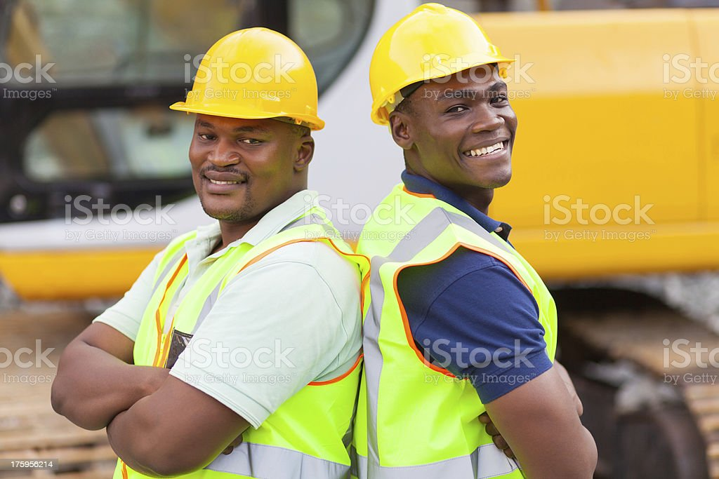 afro american mine workers royalty-free stock photo