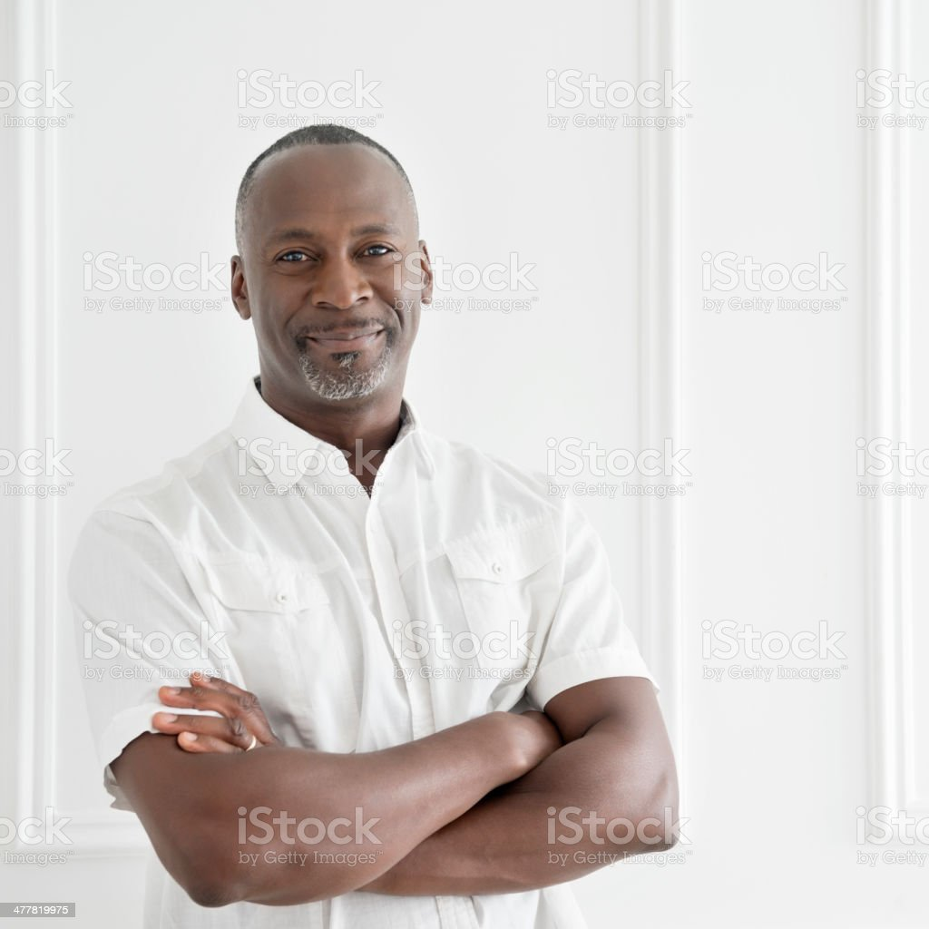 Afro Caribbean Mature Man Portrait stock photo