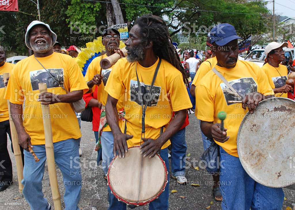 Afro Drummers stock photo