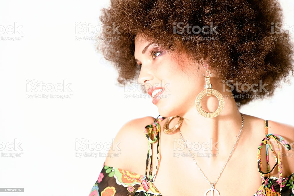 Afro Girl royalty-free stock photo