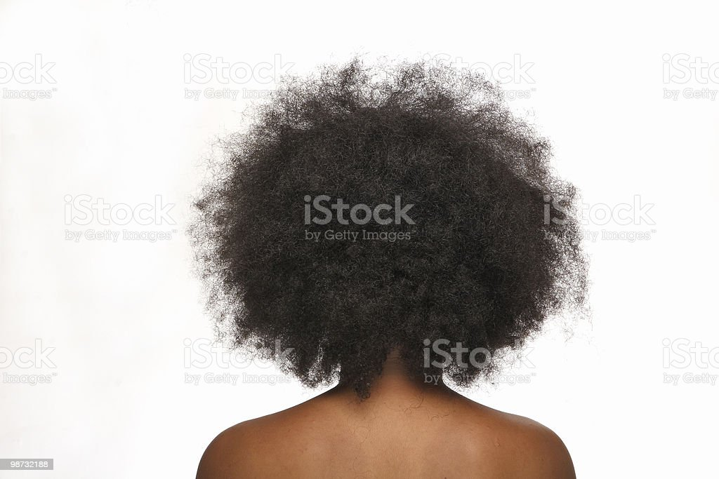 afro hair stock photo