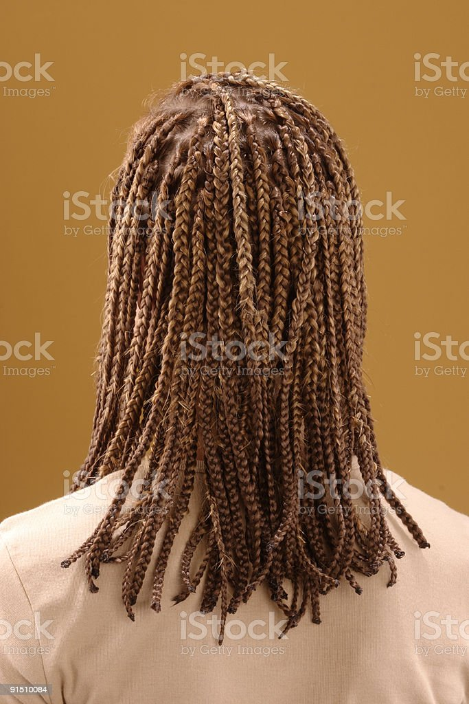Afro rastafarian hairstyle stock photo