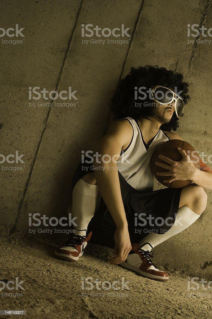 Afro Street Baller stock photo