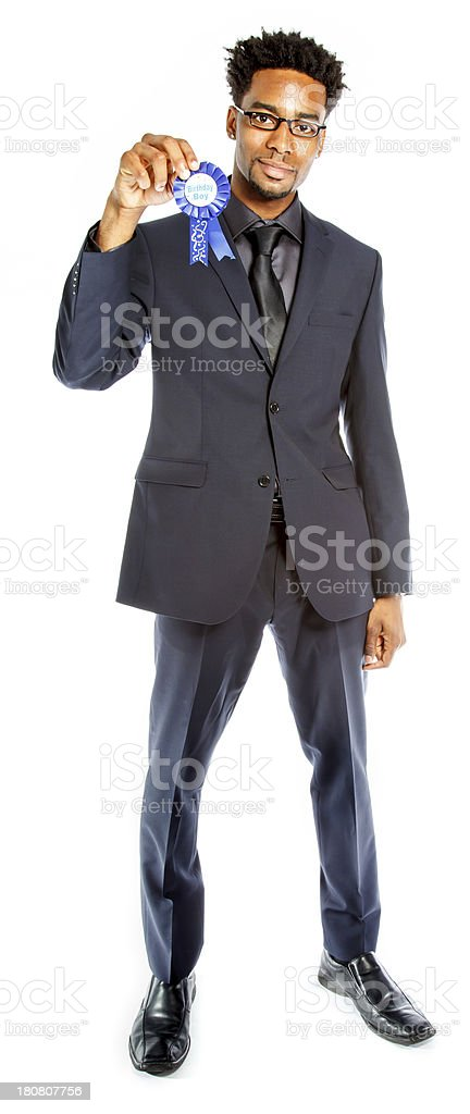 Afro-American businessman shot in studio royalty-free stock photo