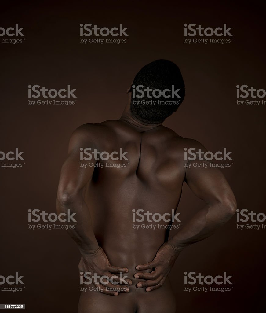 Afro-american man back royalty-free stock photo