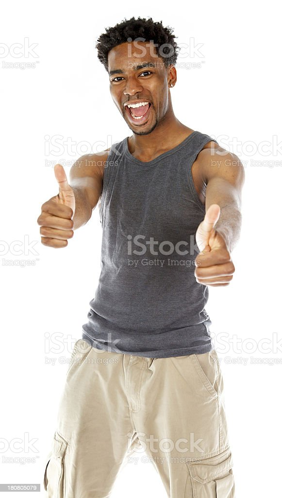 Afro-American man shot in studio royalty-free stock photo