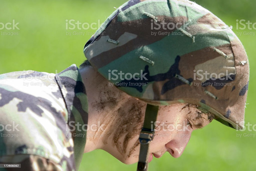 After a battle royalty-free stock photo