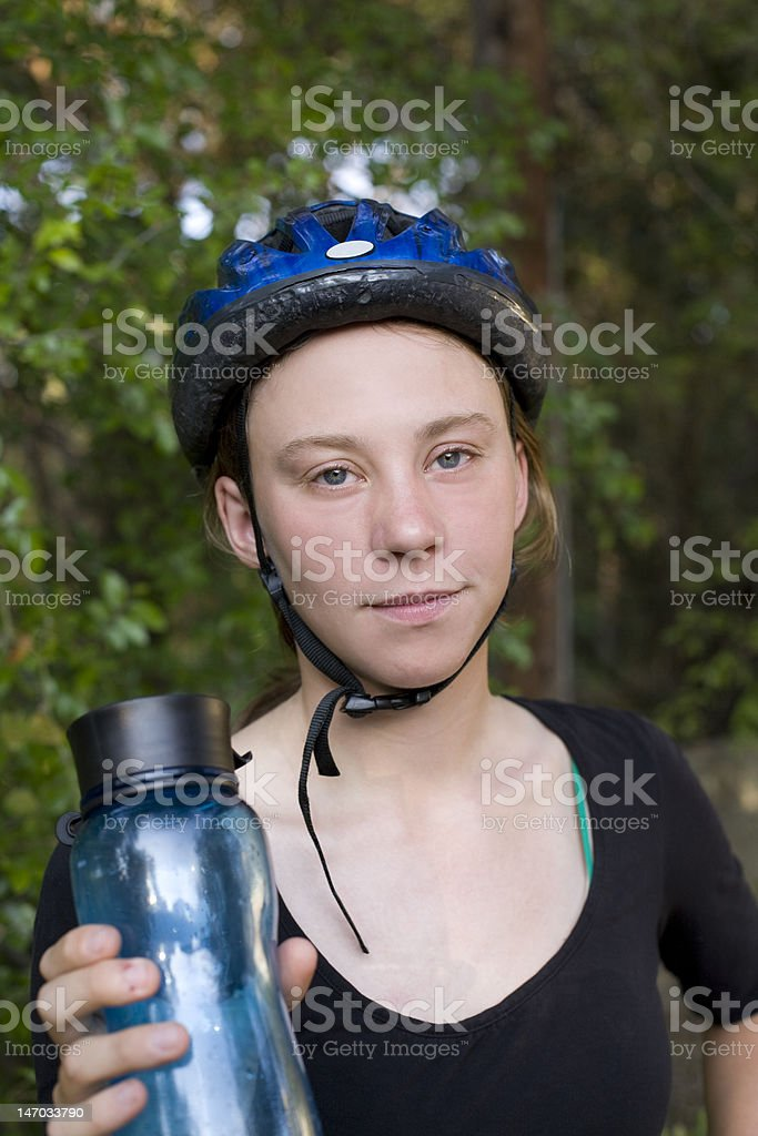 After a bike ride royalty-free stock photo