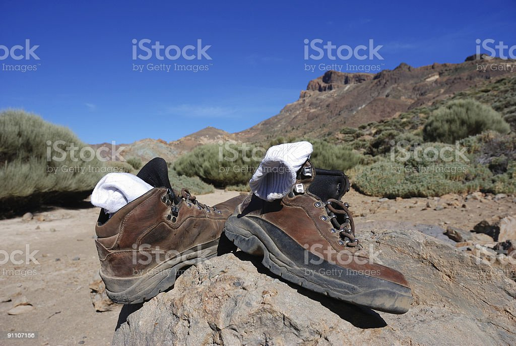 after a long hike royalty-free stock photo