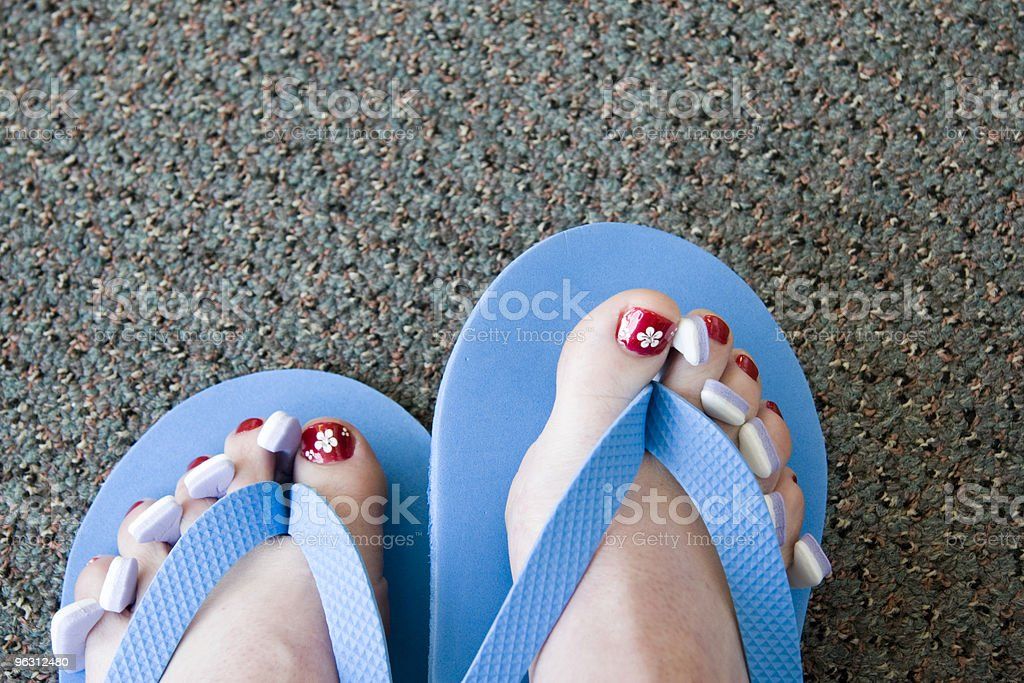 After a Pedicure royalty-free stock photo