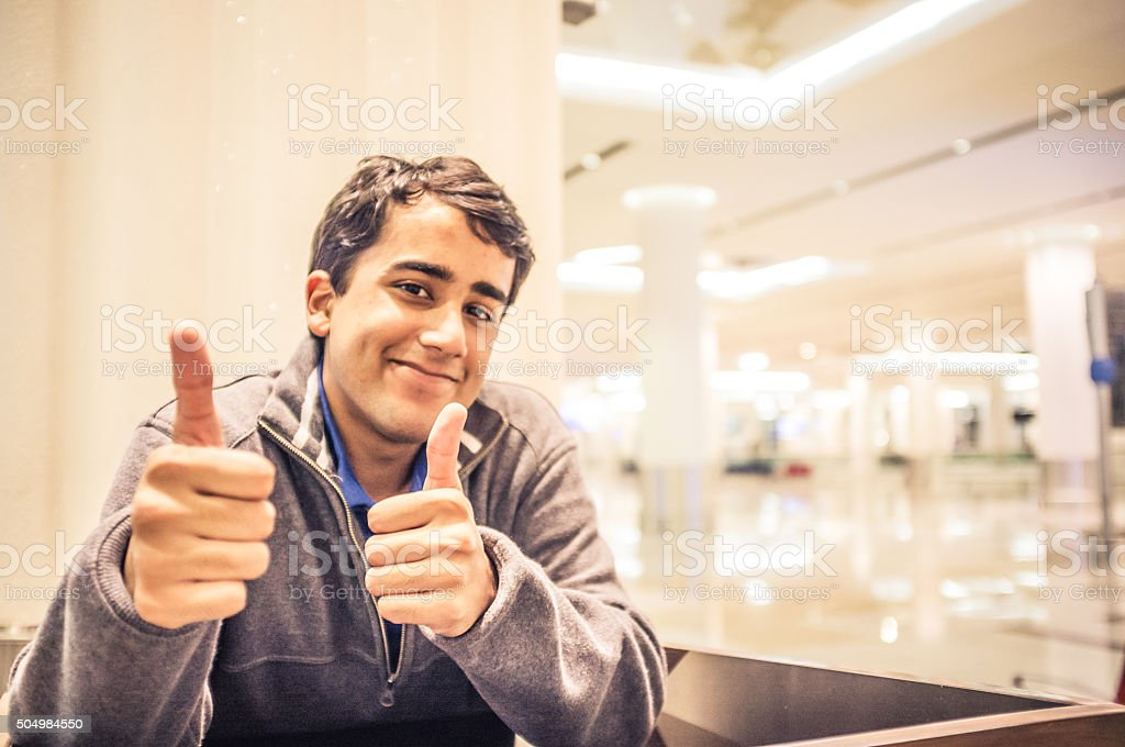 After a Successful Speech - Success - Thumbs Up stock photo
