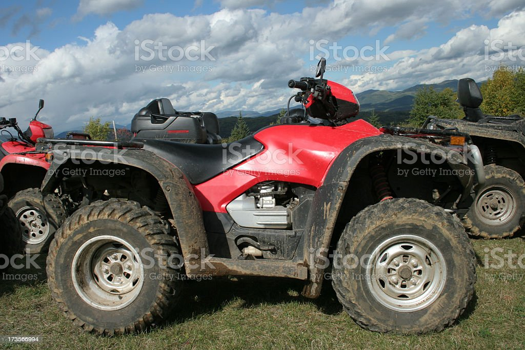 After an ATV adventure royalty-free stock photo
