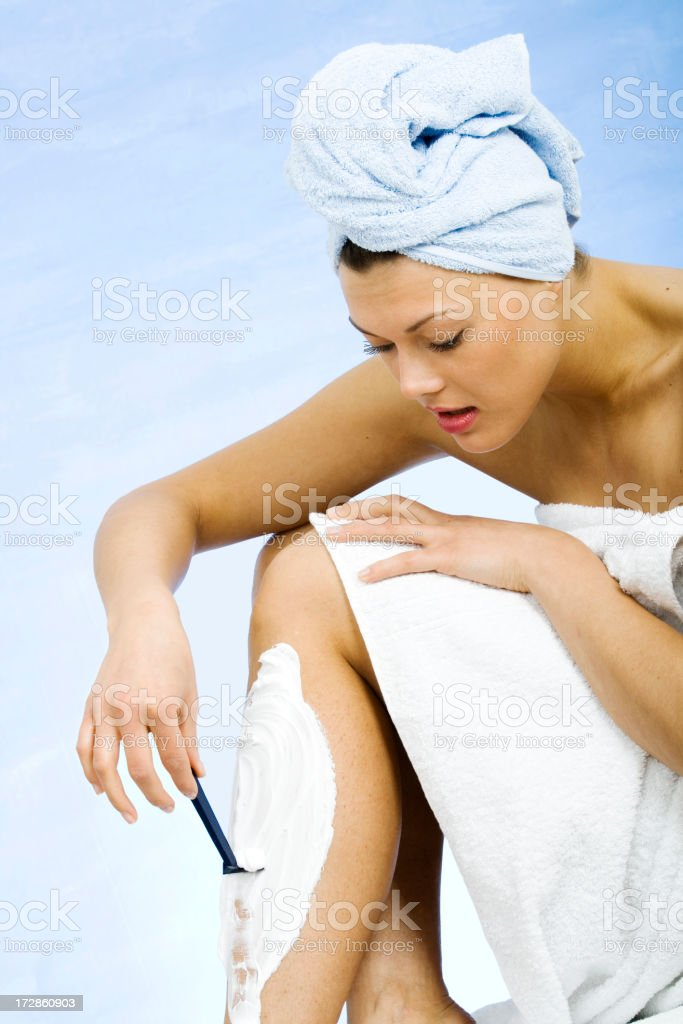 After bath royalty-free stock photo