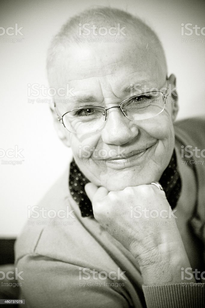 After Chemo. stock photo