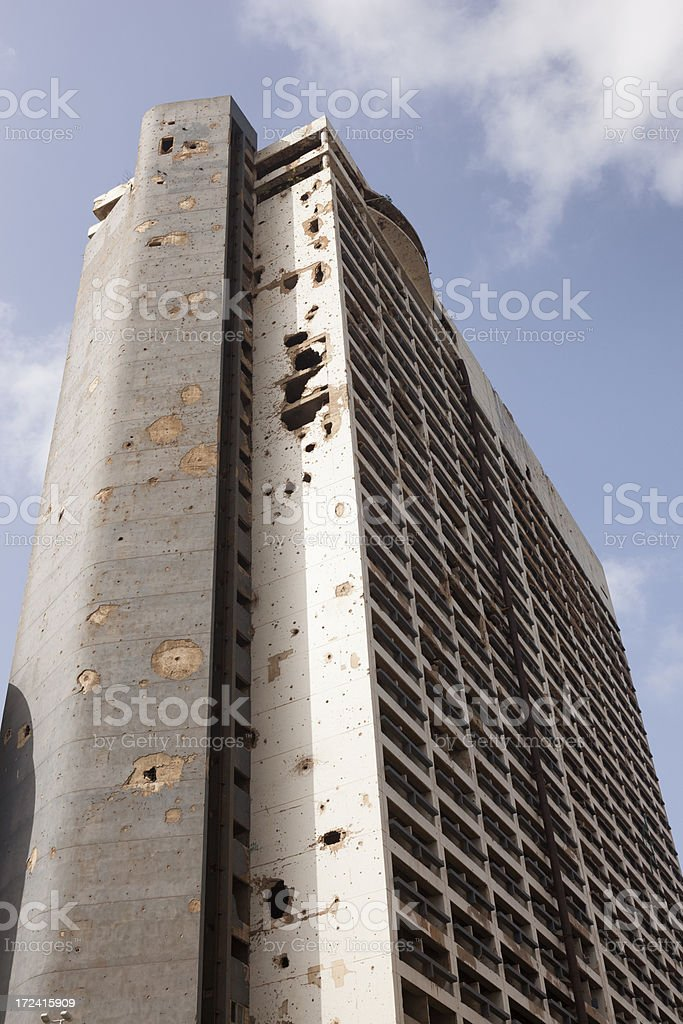 After Civil War of Beirut royalty-free stock photo