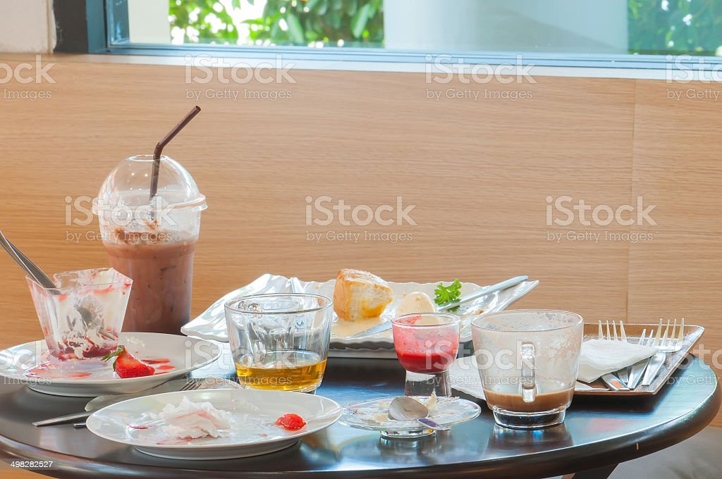 After coffee break on the table stock photo