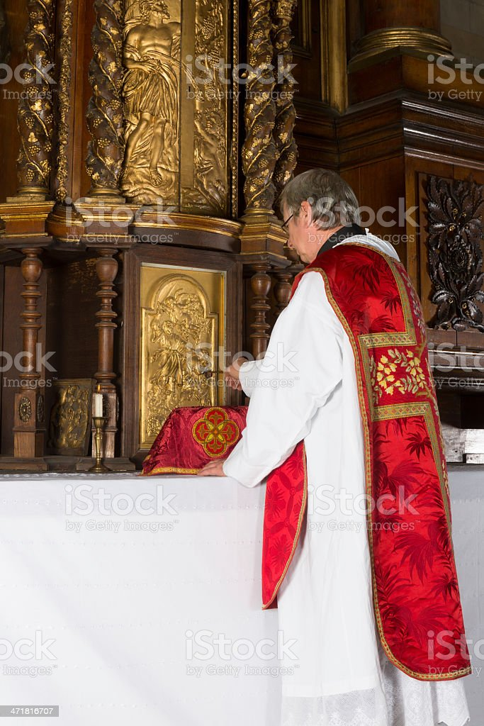 After communion stock photo