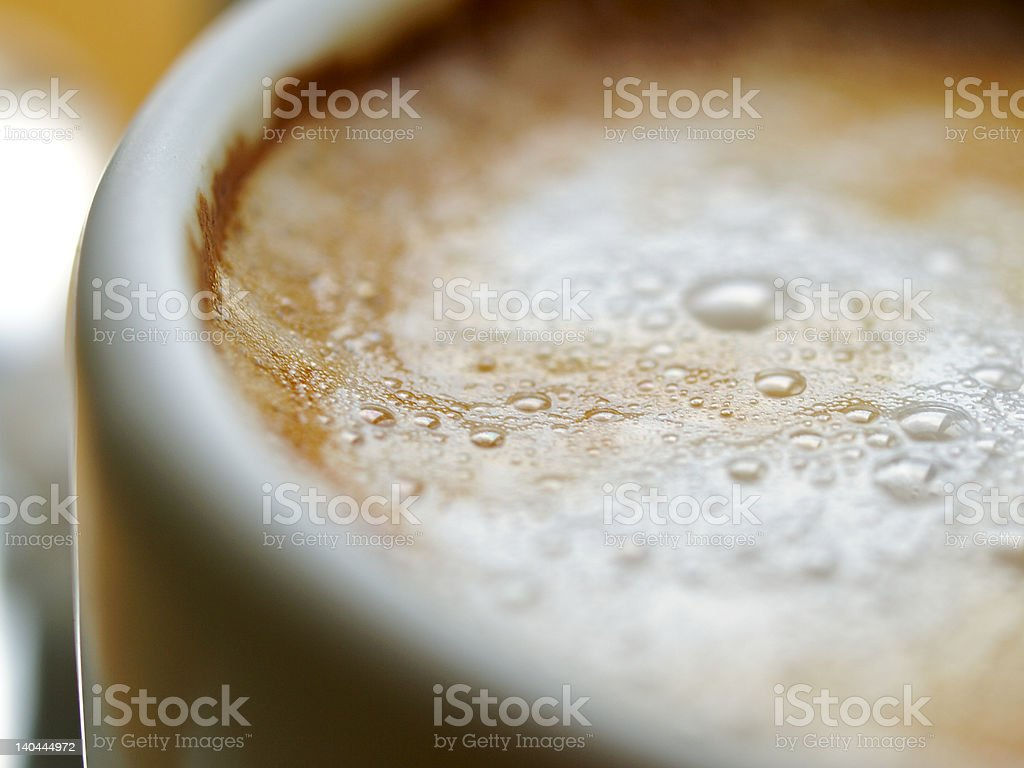 After dinner, Cafe au lait - ¡Uno con leche! royalty-free stock photo