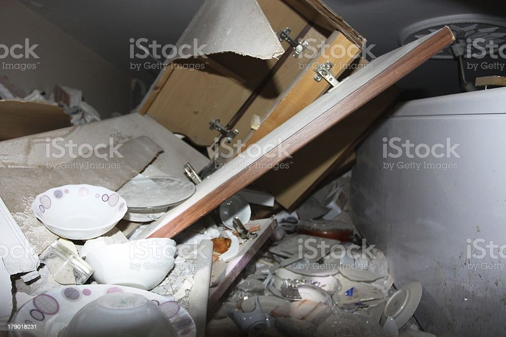 After earthquake search and rescue stock photo