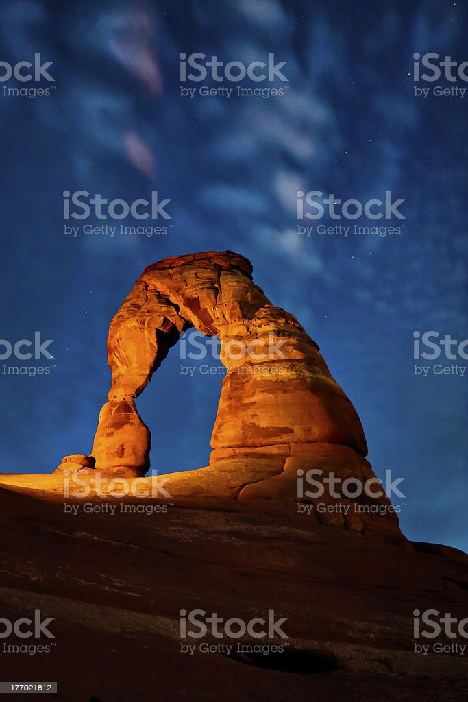 After Everyone's Gone, Delicate Arch, Arches National Park stock photo