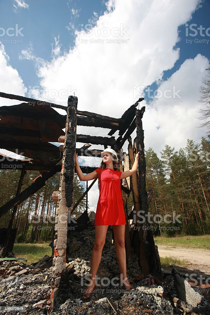 After fire royalty-free stock photo