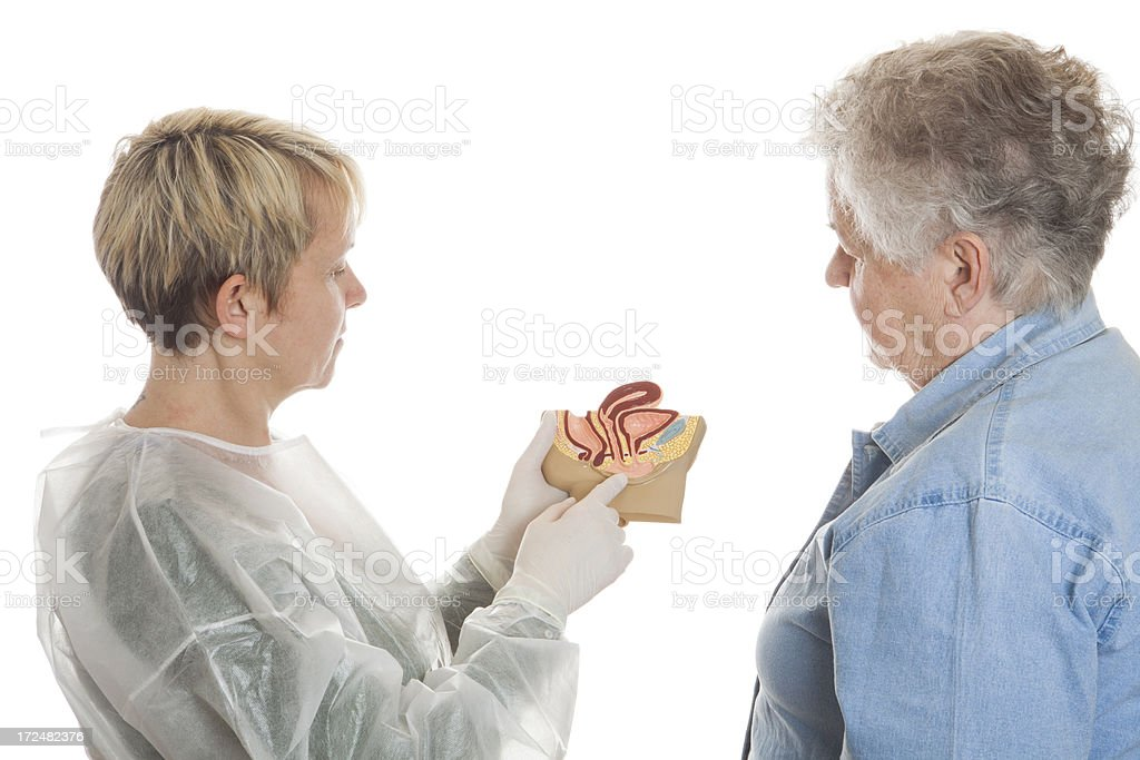 After medical exam stock photo