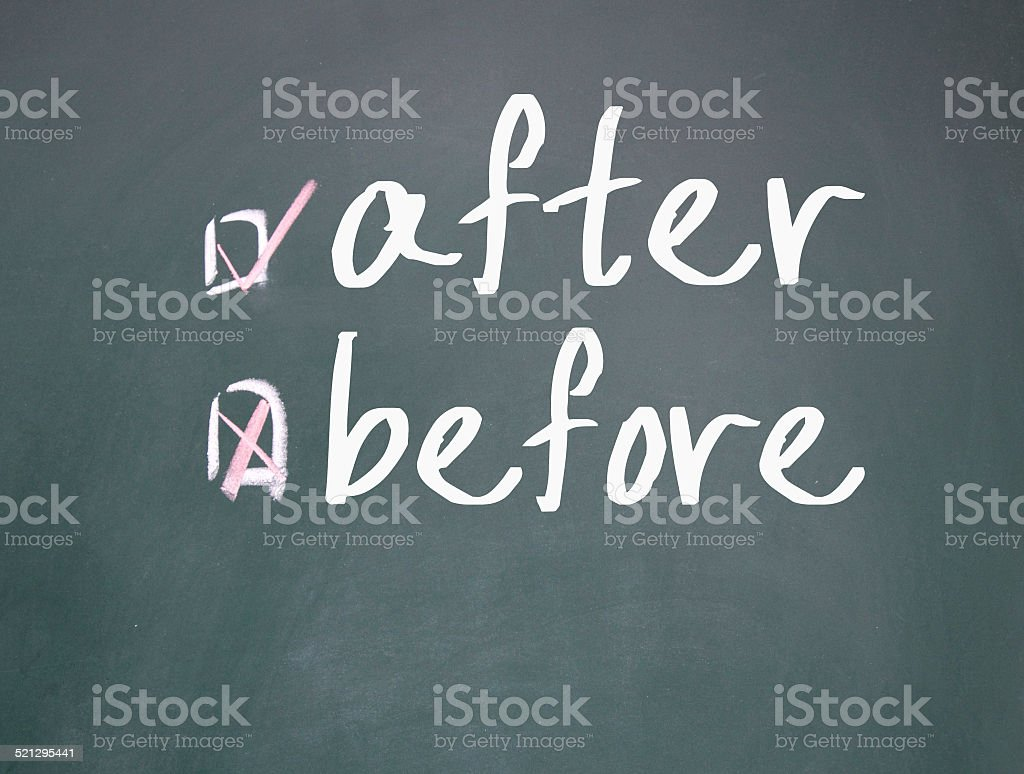 after or before choice stock photo