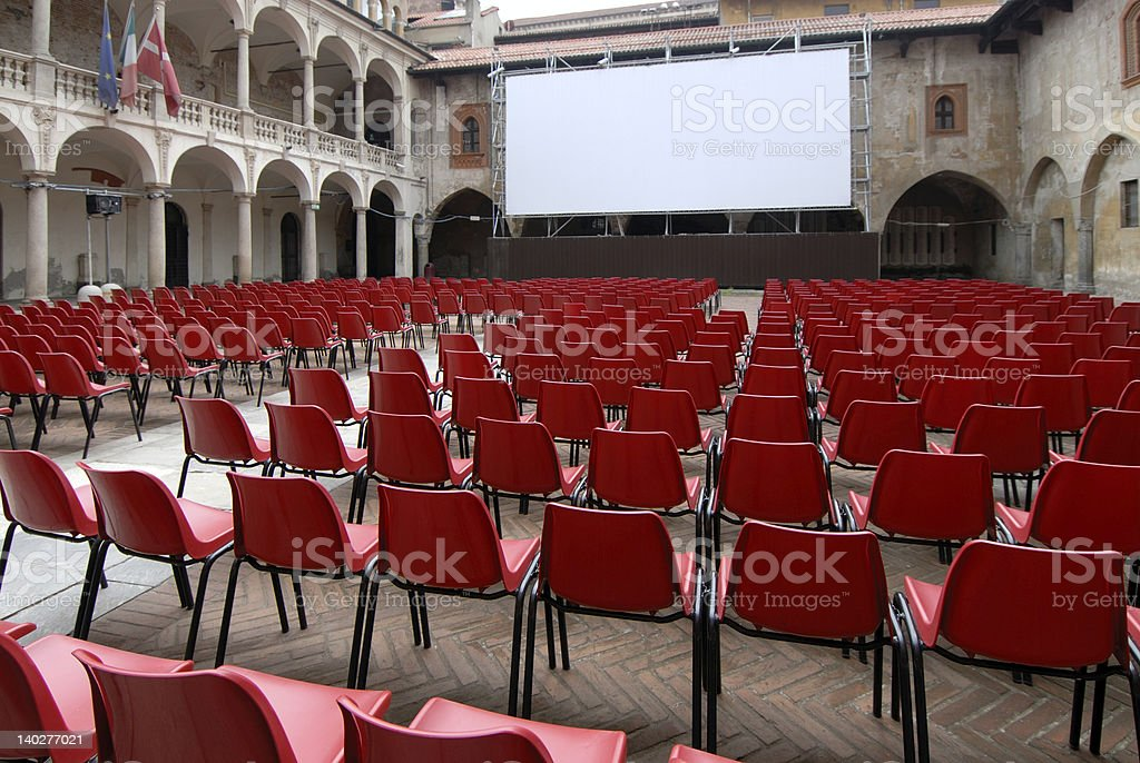 after or before conference royalty-free stock photo