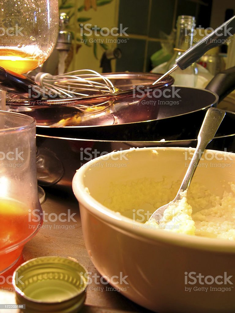 After Party Cleanup royalty-free stock photo