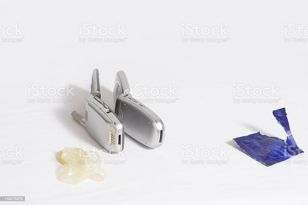 After Phone Sex stock photo