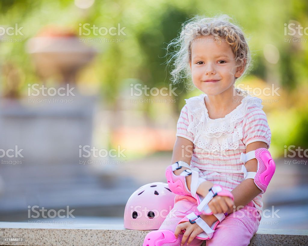After roller skating stock photo