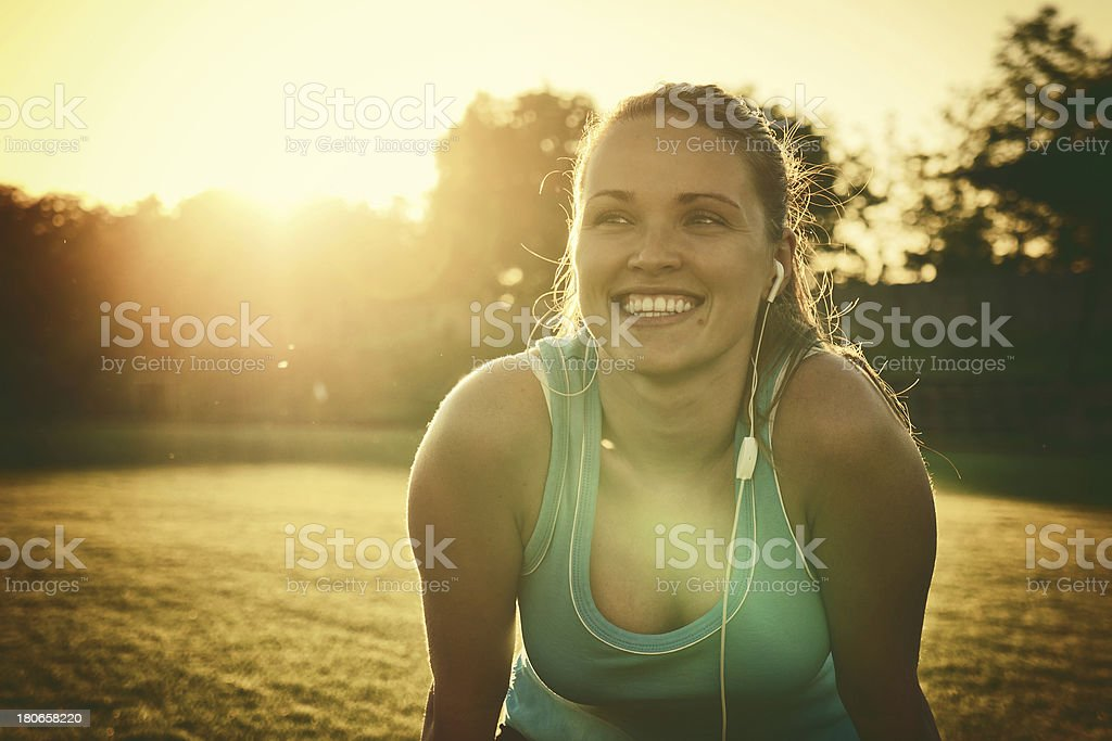 After run royalty-free stock photo