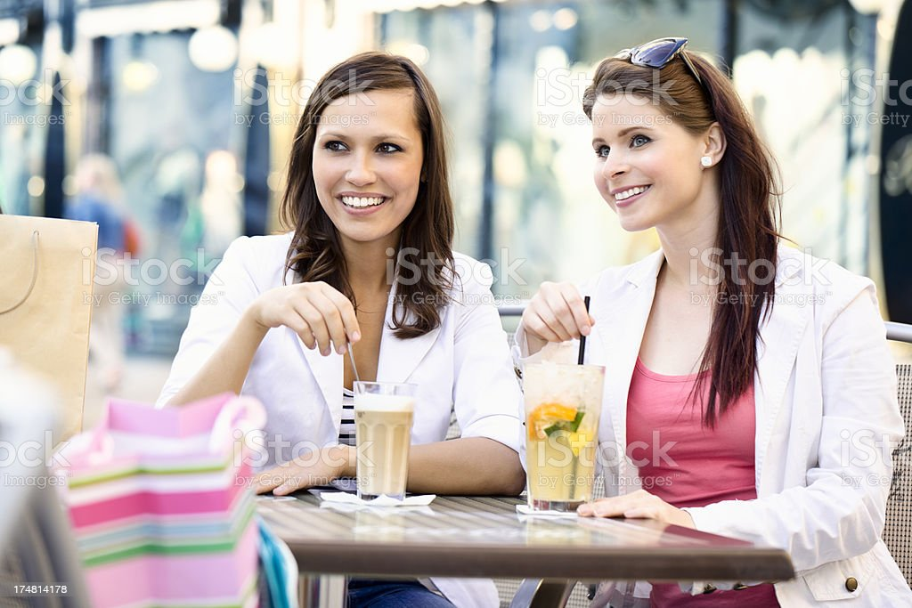 After shopping royalty-free stock photo