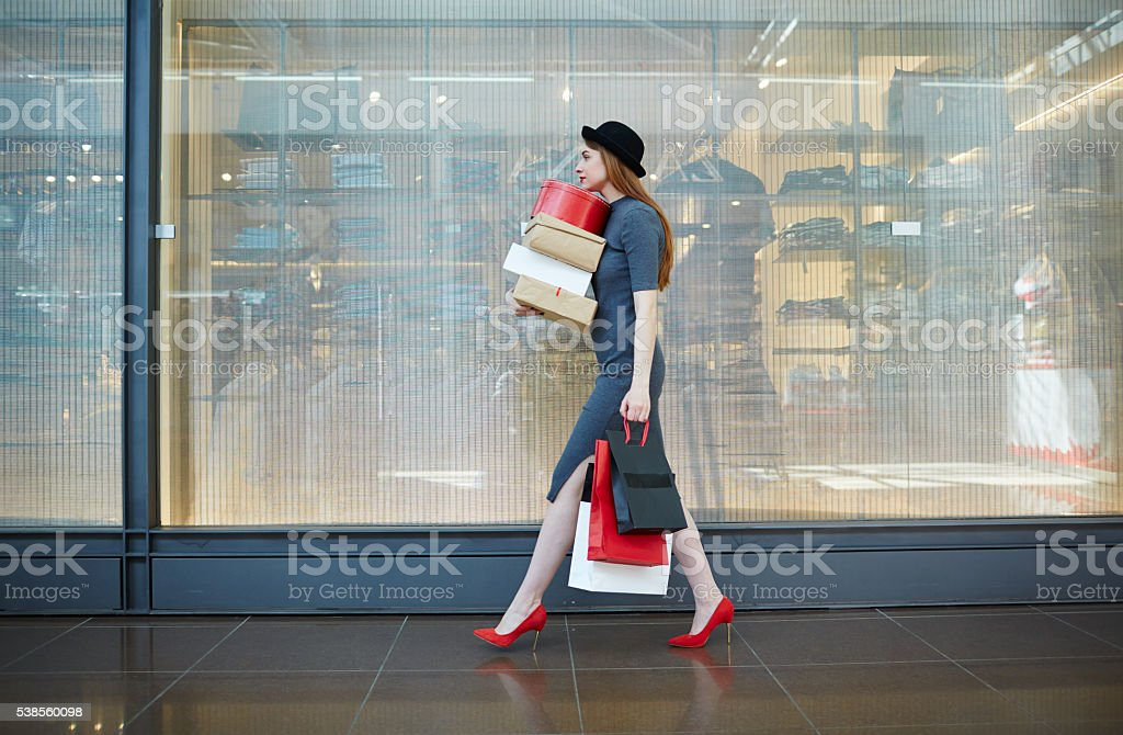 After shopping stock photo