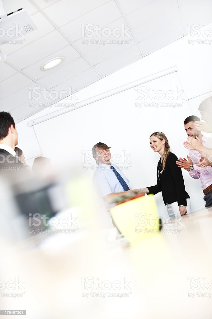 After signing contract royalty-free stock photo